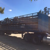 41 foot, 2 deck sheep/1 deck cattle crate and bogie trailer