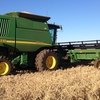 John Deere 9750STS Header / Harvester For Sale with Auto Steer & 36FT 936D Front on Trailer