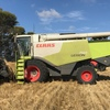 2011 Claas 750 header coupled to MacDon FD70 40ft Flexi Draper Front