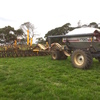 10 mtr Serafin Air Seeder Bar, 3 point linkage, Double Disc, with Flexicoil 1720 Box
