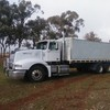 Western Star 5964 Truck & Dog with Removable Bin and 2 Deck Stock Crate