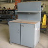 Heavy Duty Work Bench/Cabinet with Steel Plate Top