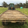 "Farm Hay Trailer 20'  ext 2"" Timber Floor, Sound tyres for farm use."