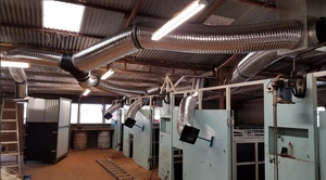 Innovative - Air Conditioned comfort for Shearers