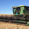 John Deere 9750STS Header Harvester For Sale with a 36FT 936D Draper Front on Leith Comb Trailer