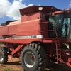 Case 2388 Header with 1042 Front on Comb Trailer