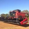 CASE IH 2188R Header / Harvester For Sale with 2142 35FT Front & Trailer