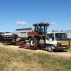 Macdon 9352 & hino truck