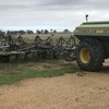 John Shearer Air seeder with chamberlain 667 Box For Sale