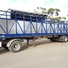 2006 Krueger 45ft Flat Top Semi-Trailer with Single Deck Cattle Crate