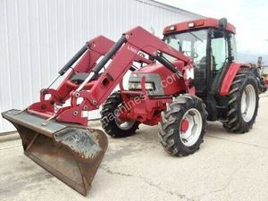 McCormick CX85 85HP 4WD Tractor w/ Loader, Bucket, Forks, Flail Mower