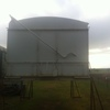 18' Tipping Grain Bin with Roll Over Tarp