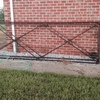 ANTIQUE GATES - DOUBLE CROSS BARS, 12 FEET AND 10 FEET,MATCHING PAIRS,PIPE WITH SWEETED KNUCKLES. $950.PER GATE ONO