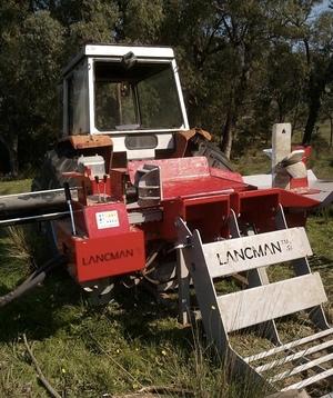 Massey Ferguson 184-4 & Lancman Wood Splitter