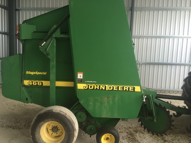 John Deere 466 Silage Special Round Baler For Sale