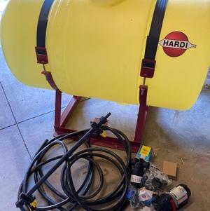 hardi spray tank/hose/pump ect