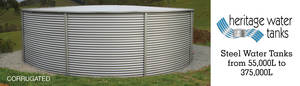Water Tank 17,000 litres up to 375,000 litres (110,000L installed $8,980.00)