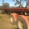41 foot White Hamilex convertible triaxle trailer