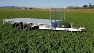4.8x2.2m aluminium flat top trailer