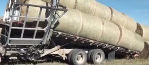 This is the way to stack Round Bales - Check out this video