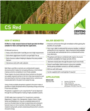 CS RED Liquid Fertiliser For Sale