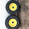 Steer Tyres on Rims off a John Deere Header