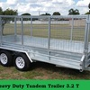 14x6 Tandem Trailer - 1000mm Cage 3.2 Tonne Rated