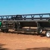 45' Midwest draper front with Midwest 4 axle trailer