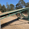 Under Auction - CONVEYOR - 10 metres x 600 Rubber Cleated Belt Stocking Conveyor on Stand -  Adjustable Height- 2% Buyers Premium On All Lots