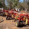 Bourgault 74 ft Seeder and 6550 Air Cart