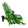 Bale Loader 3000.All bales whatever side and position with two or three strings can be taken through the leading system on the machine.