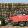 KUHN LBS 1290 iD Baler delivering perfectly shaped Hay Bales