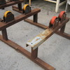 2 x Adjustable Pipe Roller Stands approx. 1200mm W x 40mm H