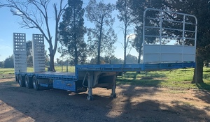 2016 Lusty Pumpa Drop Deck Trailer For Sale w Ramps Only done 50,000Km