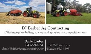 DJ Barber Ag Contracting - Hay Mowing, Raking & Baling Avaliable