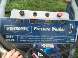 Kincrome pressure washer