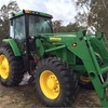 John Deere 7710 tractor with FEL and 3PL,