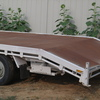 Tri axle beaver tailed trailer