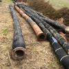 "Water pipe, approx 6-7"" diameter flexible rubber ""Dunlop diamond"" brand,"
