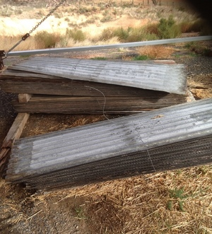 1200 Piece of corrugated iron or roofing iron re rolled