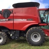 2012 CASE IH 8120 HEADER PLUS 2152 40FT MACDON FRONT WITH TRAILER.