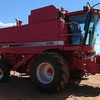Case IH 2188 with 1010 Front on Leith Trailer