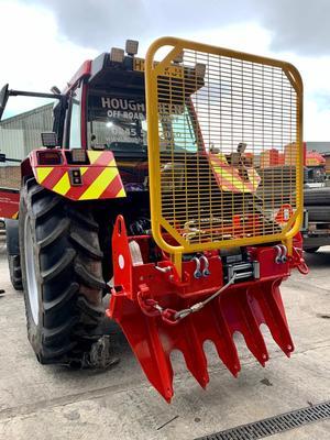 Winch attachment Skid steer Telehandler Tractor