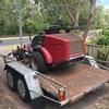 Toro Groundsmaster Ride On Mower and trailer