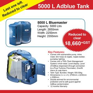 5000 Litre BlueMaster Bunded AdBlue Dispensing Tank with tank monitoring