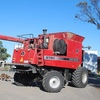Under Auction (A130) - 2004 Massey Ferguson 9790, 36' draper front, 30' flex front both on trailers - 2% + GST Buyers Premium On All Lots