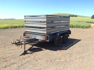 9x5ft tandem axle stockcrate trailer