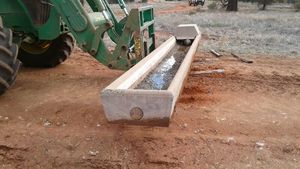 16 Foot Concrete Water Troughs
