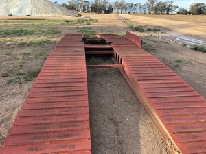 Drive over deck for Auger