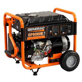 GENERAC GP6500E PORTABLE GENERATOR -Engineered in USA